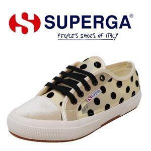 Superga 2750 Netvelw Polka Dot Ankle-High Sneaker